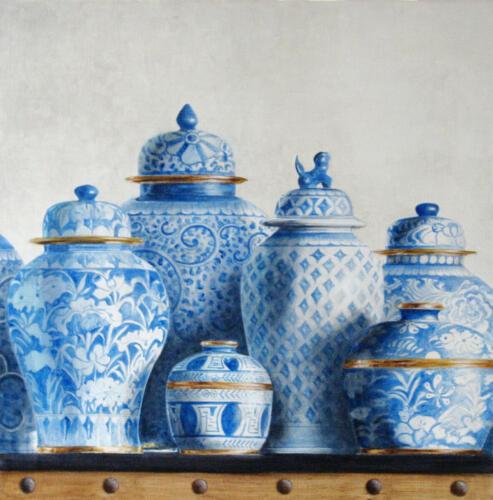 Isara-Fine Arts Bleu/Blanc